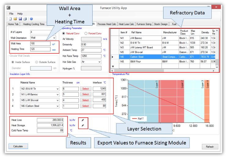 Furnace Utility Software For Design and Sizing